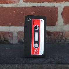 iPhone 4/4S Cassette Case Black design inspiration on Fab.