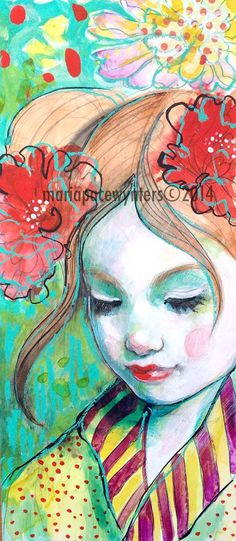 Make A Wish- Original mixed media painting by Maria Pace-Wynters …