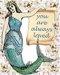 Inspirational quotes Mermaid Image Nursery by DigitalArtMovement