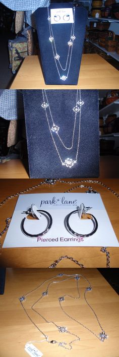 Mixed Items and Lots 10970: Park Lane Jewelry Jennifer Necklace And Non Stop Earrings, Silver, Crystals New!!! -> BUY IT NOW ONLY: $57.95 on eBay!