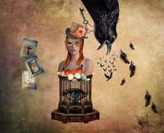 Digital Collage, Collage Art, Crow, Painting, Instagram, Painting Art, Raven, Paintings, Collage