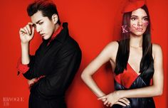 KENDALL JENNER ROCKS BLACK & RED LOOKS FOR VOGUE CHINA EDITORIAL
