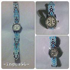 Friendship bracelet watch ! #friendshipbraceletwatch #friendshipbracelet