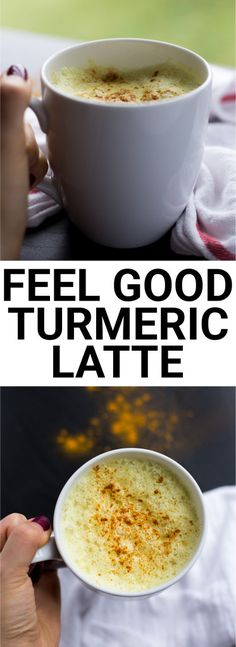 Feel Good Turmeric Latte: This homemade latte is filled with healthy ingredients that will keep you feeling awesome this fall! Naturally gluten free and vegan. || fooduzzi.com recipe