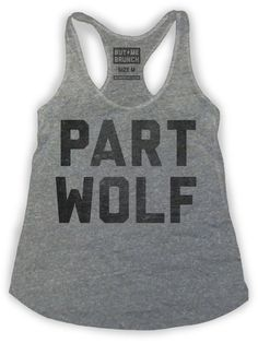 Part Wolf Womens Tank Top from Buy Me Brunch   Buy Me Brunch