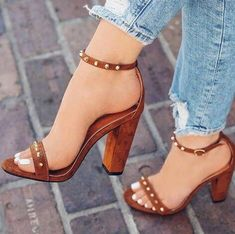 Brown Sandals, Heeled Sandals, Sandals Outfit, Heeled Boots, Brown Heels, Stiletto Heels, Shoes Heels, Work Heels, Shoe Boots