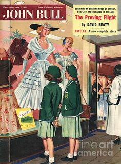 Vintage Illustration Giclee Print: Front Cover of 'John Bull', June 1956 : - size: Giclee Print: Front Cover of 'John Bull', June 1956 : Magazine Art, Magazine Covers, Vintage Posters, Vintage Art, Vintage Graphic, Vintage Stuff, Advertising Archives, Nostalgic Art, Retro Housewife