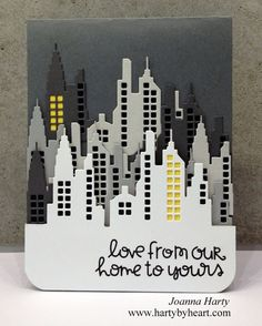 Love from Our Home to Yours card by Joanne Harty - Paper Smooches - Super 2 Dies, Bitty Bungalows