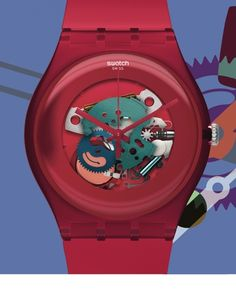 Swatch Watch Lacquered Red