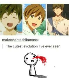 - Makoto Tachibana ♥ The cutest evolution I have ever seen! Makoto Tachibana, Makoharu, Noragami, I Love Anime, Anime Guys, Awesome Anime, Otaku, Splash Free, Free Eternal Summer