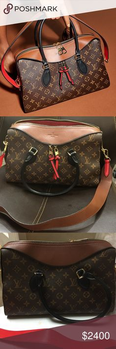 Louis Vuitton Tuileries Monogram Color Collection NO BUNDLE ,Pls 💯Authentic.Have box,gift recipes from LV store for Mother's Day .The new Tuileries Handbag tells a bold fashion story with its eye-catching mix of Monogram canvas and tricolor cowhide leather. It allows multiple ways of carry, with twin Toron handles for a chic elbow carry and a strap for practical over-the-shoulder wear. Coated Monogram canvas with cowhide leather.Caramel color. Louis Vuitton Bags Crossbody Bags
