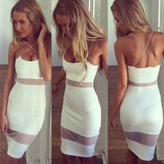 STYLE and FASHION - Quelle: http://www.shopdailychic.com/products/net-worth-mesh-panel-dress-white