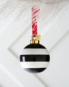 kate spade new york Deck The Halls Ornament, Black Stripe
