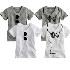 NEW Baby Toddler Kids Boy Girl T Shirt V Neck Dandy