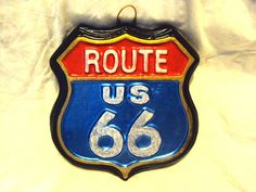 Route US 66  Stone Hand cast Hand painted  by MountainArtCasting, $29.95