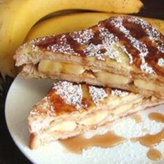 Elvis French Toast...Peanut Butter and caramelized banana!