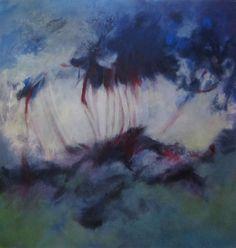 Trennung 1999 (Serie Schöpfung), Acryl auf Leinwand/Holz, 90 x 90 cm