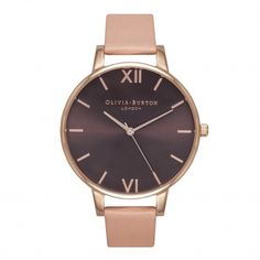 Brown Dial Dusty Pink and Rose Gold | Olivia Burton London
