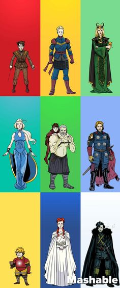 It's the ultimate mashup -- your favorite Game of Thrones characters dressed as your favorite Avengers characters!