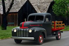 1947 Ford Flat Bed Pickup Truck Photograph  - 1947 Ford Flat Bed Pickup Truck Fine Art Print
