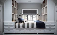 Built-in bed with storage - How to Sneak In Creative Guest-Room Storage : Laura Gaskill - houzz --- all of this storage would be great, though heavy, for a tiny house. Bed Design, Bedroom Storage, Bedroom Furniture, Bed Storage, Bed, Kids Bed Design, Creative Bedroom, Bed Plans, Built In Bed