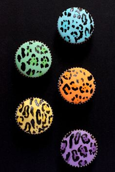 neon animal print cupcakes by hello naomi