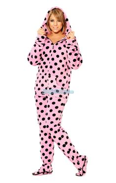 Jenni Pajamas, Hooded Footed Pajamas - Womens PAJAMAS & ROBES ...