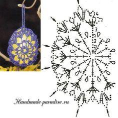 Схемы обвязки крючком пасхальных яиц (3) Crochet Edging Patterns, Easter Crochet Patterns, Crochet Bunny, Crochet Chart, Thread Crochet, Crochet Motif, Crochet Doilies, Crochet Christmas Ornaments, Holiday Crochet