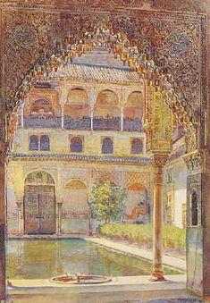 Landscapes by British artist George Owen Wynne Apperley Figure Painting, House Painting, Architecture Unique, Islamic Paintings, Art Plastique, Islamic Art, Beautiful Paintings, Patio, Painting Inspiration