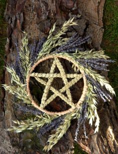 Pagan Wiccan Handfasting pentacle Wreath. Blessings of abundance, fertility , peace and protection. Handmade by Positively Pagan crafts - On facebook