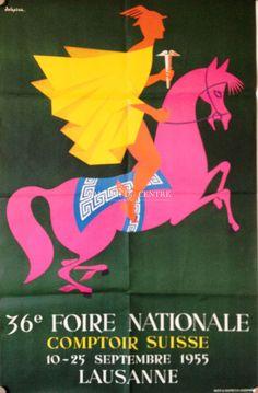 VAUD LAUSANNE Comptoir Suisse 1955 par Delapraz