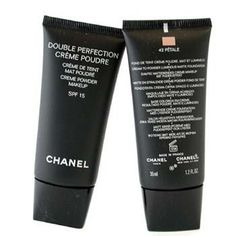 Double Perfection Cream Poudre SPF 15 - 42 Petale - Chanel - Complexion - Double Perfection Cream Poudre - 35ml/1.2oz by CHANEL. $44.55. 35ml/1.2oz. This silky, velvet effect makeup provides moderate to full coverage Rich in anti-shine absorbent powders to deliver a matte finish Light-reflecting pigments even out skin tone & enhance beauty Sun filter combines with Vitamin E protect your skin for hours Gives you a natural, long lasting & luminous appearance Suitable fo...