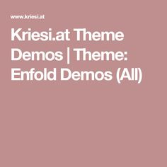 Kriesi.at Theme Demos | Theme: Enfold Demos (All)