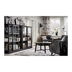 IKEA - MALSJÖ, Vitrina, velatura preta, 103x141 cm, , As portas de vidro mantêm os seus objetos preferidos livres do pó, mas à vista.