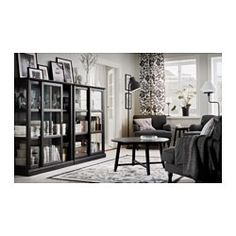 IKEA - MALSJÖ, Glass-door cabinet, 103x141 cm, , Glass-door cabinet keeps your favorite items free from dust but still visible.The attention to detail gives the furniture a distinct handcrafted character.