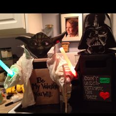 Star wars valentine boxes