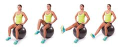 Stability Ball Seated Knee Tucks