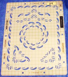 Fiskars  Shapeboss 2 piece CIRCLE-SWIRL Templates  #5611 Scrapbooking   24 TE11 #Fiskars #circleswirl