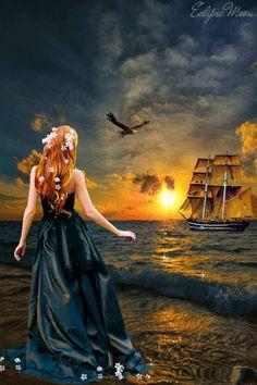 """""""No vuelvas a renunciar a la espera que su barco llegue. """"  ~Jasmeine Moonsong  Google+"""