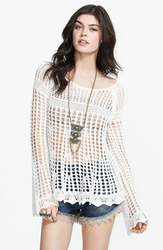 crocheted pull over - cute!