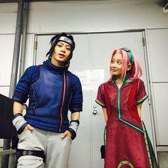 Sakura e Sasuke cosplay 💙 Naruto And Sasuke, Anime Naruto, Sakura And Sasuke, Naruto Shippuden Anime, Kakashi, Sakura Haruno, Boruto, Manga Anime, Top Cosplay