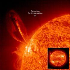 Solar eruption larger than Earth. ESA Aug 1st 2016.