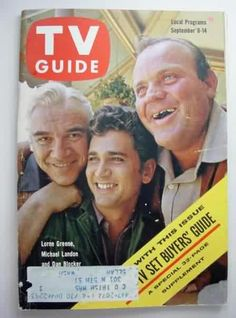 Bonanza - Lorne Green, Michael Landon and Dan Blocker, everyone in front of the TV for the best western ever...