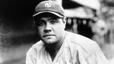 Babe Ruth was known throughout the world in the as a famous baseball player. He hit a record of 60 home runs for the NY Yankees and Sports players like Babe Ruth were inspirations for many people during the late Baseball Posters, Baseball Jerseys, Basketball, Baseball Art, Baseball Quotes, Softball, Hockey, Today In History, Living At Home