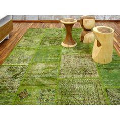 Alfombra Patchwork 9RE Verde de Parentesi Quadra en Tendenza Store