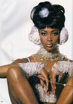 Vogue US March 1992 - Naomi Campbell by Irving Penn