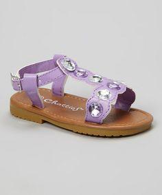 Purple Rhinestone Sandal