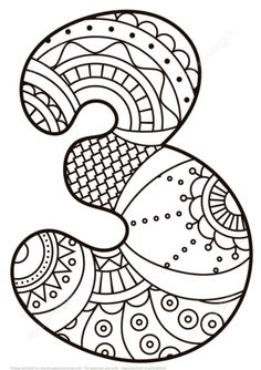 Crafts Printable Number 3 Zentangle coloring page from Zentangle Numbers category. Select from 21162 printable crafts of cartoons, nature, animals, Bible and… Free Printable Coloring Pages, Coloring Book Pages, Coloring Pages For Kids, Coloring Sheets, Adult Coloring, Numbers Preschool, Math Numbers, Alphabet And Numbers, Printable Crafts