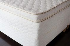 Savvy Rest Serenity Pillowtop organic mattress; 14 inches of luxurious natural latex, certified organic cotton and certified organic wool.