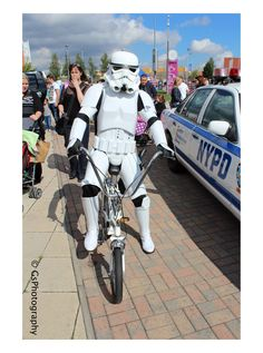 Can't get much cooler than a storm trooper on a 1977 Raleigh chopper
